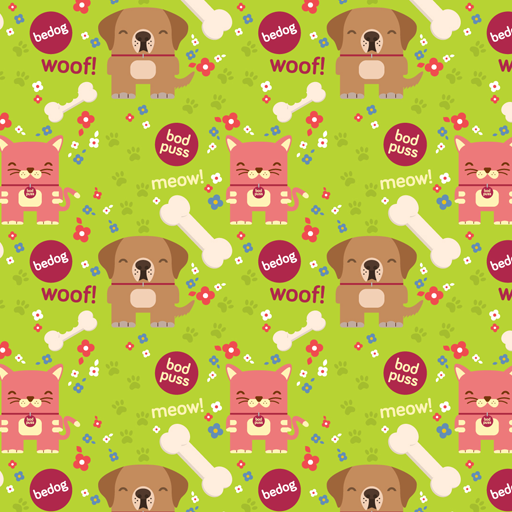 Bedog and Bodpus green wallpaper